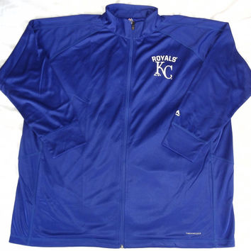 Kansas City Royals Majestic ThermaBase Full Zip Track Jacket Womens Size 2XL