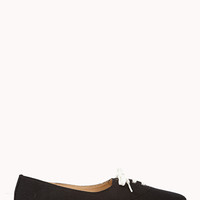 FOREVER 21 Lace-Up Canvas Sneakers