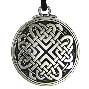 Celtic Knot Woven Heart Pendant Jewelry Irish Necklace Viking Gebo Love Rune Jewelry