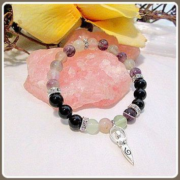 """Cleanse & Ground"" Goddess Amethyst & Hematite Bracelet"