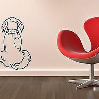 Wall Stickers Vinyl Decal Animal Dog Pet Collar Nursery Unique Gift ig1346