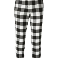 MSGM cropped checkered trousers