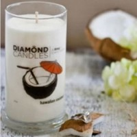 Hawaiian Coconut Scent Diamond Ring Jar Candle (Rings Inside Value From $10 to $5000)