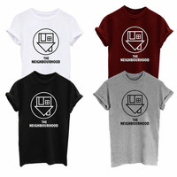 Then Neighbourhood Indie rock hipster facedown tumbler crew neck shirt unisex womens mens ladies print tshirt music tour concert