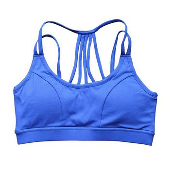 DCCK7N3 Yoga tops vest Women movimiento Athletic Sports Bras Seamless Cross Back Padded Raceback Gym Running Fitness Tank Tops P043
