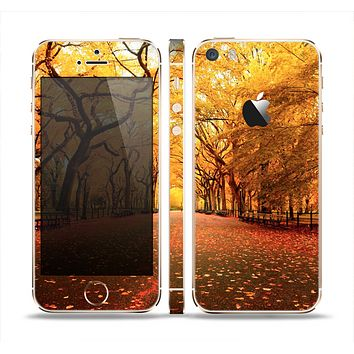 The Fall Back Road Skin Set for the Apple iPhone 5s