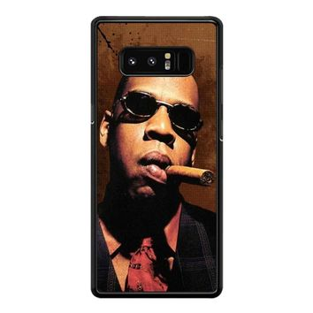 Jay-Z Cigar Glasses Tie Vest 01  Samsung Galaxy Note 8 Case