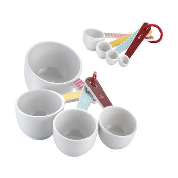 Cake Boss Countertop Accessories 8 Piece Measuring Cups & Spoon Set