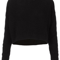 Knitted Textured Crop Jumper - Sale  - Sale & Offers