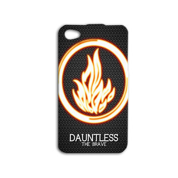 Divergent Dauntless the Brave iPhone Case Cute Phone Case Fire Logo Movie iPod Case iPhone 4 Cover iPhone 5 iPhone 5s iPhone 4s iPod 5 Case