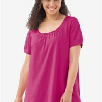 Plus  Size 6X  42/44 Tunic Top Woman Within New