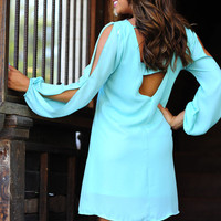 Jewel Be Memorized Dress: Light Teal | Hope's