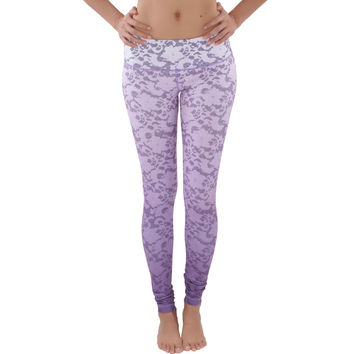 WITH | Wear It To Heart | WITH Women's Legging Gradient Lace Purple