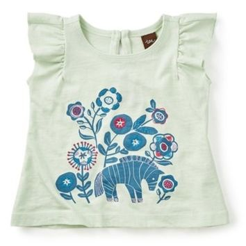 Tea Collection | Zebra Embroidered Graphic Tee (Baby Girls) | Nordstrom Rack