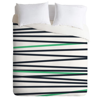 Khristian A Howell Crew Stripe Cool Duvet Cover