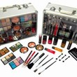 SHANY Carry All Trunk Makeup Kit with Reusable Aluminum Case Exclusive Holiday Gift Set. Black & White
