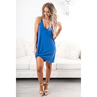 I'll Be Your Sky Basic Dress (Snorkel Blue)