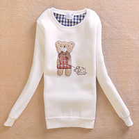 Round-neck Hoodies Cartoons Korean Pullover Jacket [9036923916]