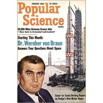popular science VINTAGE MAGAZINE COVER POSTER jan 1963 technology 24X36 NEW