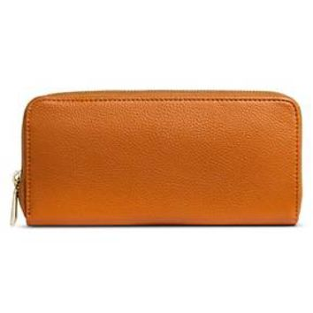 Women's Solid Zip Around Faux Leather Wallet - Merona™ : Target