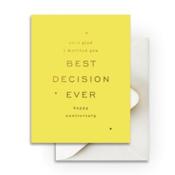 Best Decision Ever Greeting Card