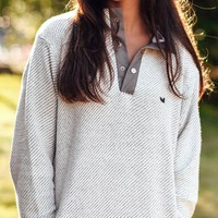 Pawleys Rope Pullover in Light Gray by Southern Marsh - FINAL SALE
