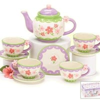 Pretty Flowers Girls' Tea Set in Gift Box