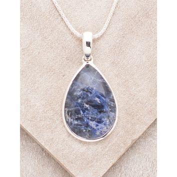 Blue Sodalite Teardrop Necklace