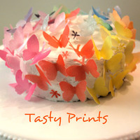 EDIBLE -  100 Butterflies - Edible decorations for cake, cupcake, cake pops, truffles