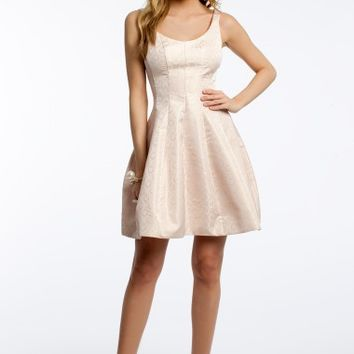 Brocade Fit and Flare Dress