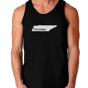 Tennessee - United States Shape Dark Loose Tank Top  by TooLoud