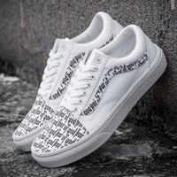 Trendsetter FEAR OF GOD x VANS Old Skool Canvas Flat Sneakers Sport Shoes