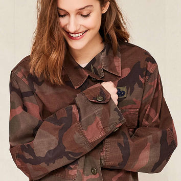 Vintage Overdyed Woodland Shirt Jacket - Urban Outfitters
