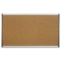 "quartet bulletin board, 24""x14"", cubicle/dry-wall mountable"