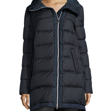 Mert KS High-Low Light Down Coat, Size: