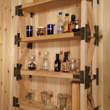 Wood Truss Display Shelf With Steel Gusset Plates