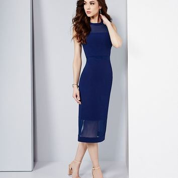 Antonio Melani Rae Techy Crepe/Mesh Dress | Dillards
