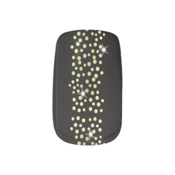 Black and Gold Sparkly Glitzy Party Nails Minx® Nail Art