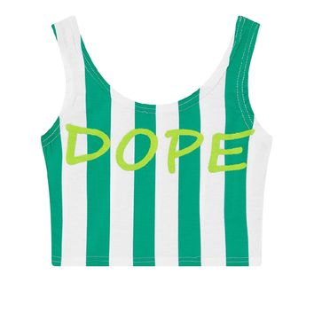 Green Dope Printed Summer Crop Top CT-143