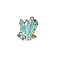 Blue Crystals Pin