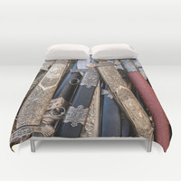 Cold steel arms Duvet Cover by Digital2real