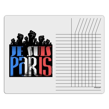 Je Suis Paris - Strong Chore List Grid Dry Erase Board by TooLoud