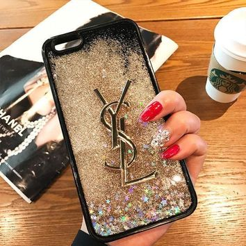 DCCKN7K YSL Fashion Luxury Supreme Sliver Mirror Case For iPhone 8 8Plus 7 7Plus 6 6s 6Plus 6s Plus