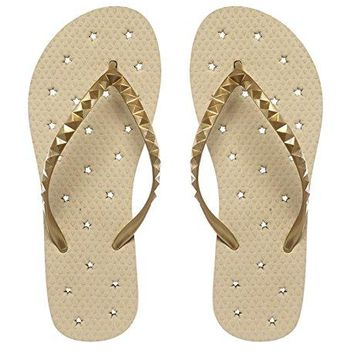 Showaflops Girls Antimicrobial Shower amp Water Sandals for Pool Beach Camp and Gym  Shining Stars Collection