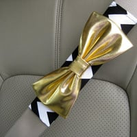Custom Seatbelt Cover with Matching Bow by BeauFleurs on Etsy