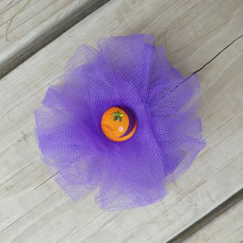 Purple Tulle Moon Halloween Hair Bow