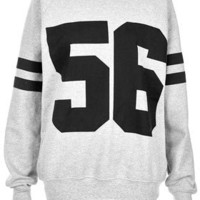 Number 56 Sweater - Sweatshirts & Hoodies - Jersey Tops  - Clothing