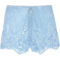 Miguelina | Jaya crocheted cotton-lace shorts | NET-A-PORTER.COM