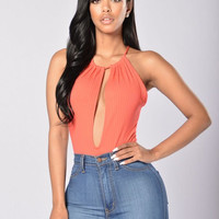 Desirable Bodysuit - Coral