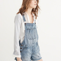 Womens Boyfriend Shortalls | Womens Bottoms | Abercrombie.com